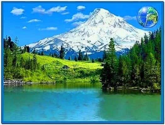 3D Mountain Lakes Screensaver