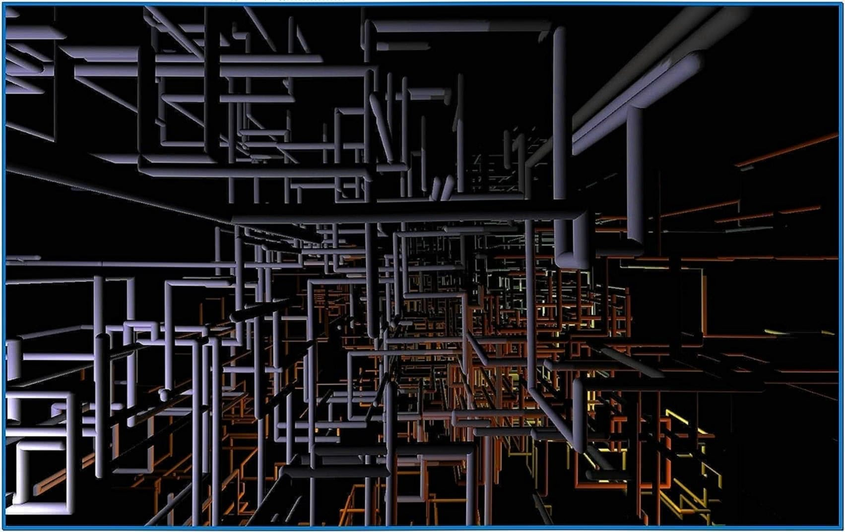 3D Pipes Screensaver Windows 8