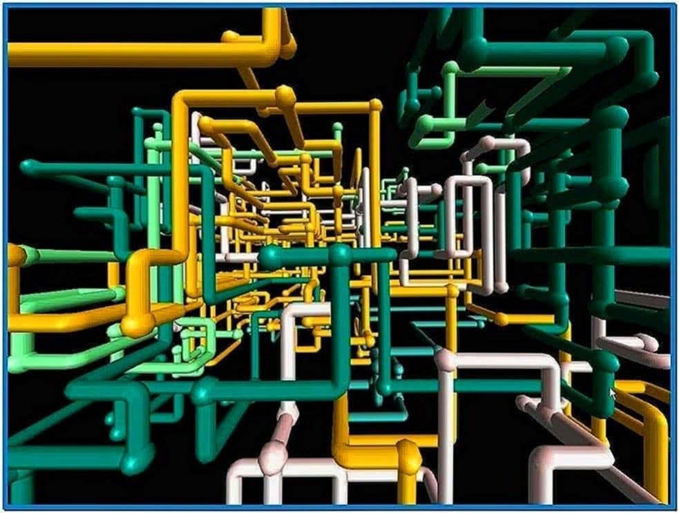3D Pipes Screensaver Windows 8