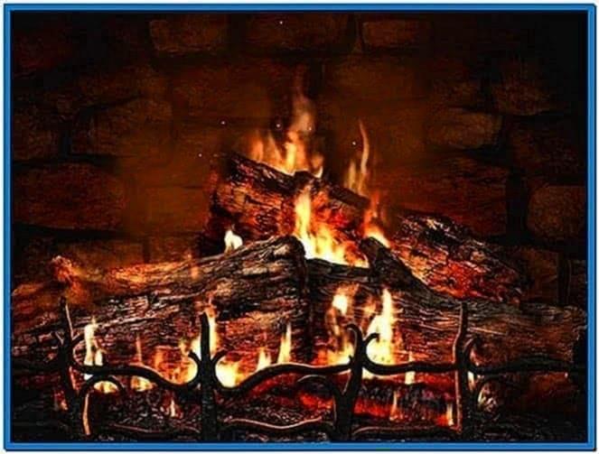 3D Real Fireplace Screensaver