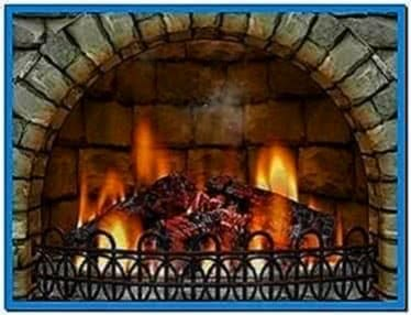 3d realistic fireplace screensaver 3.4