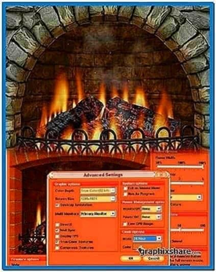 3D Realistic Fireplace Screensaver 3.9.2.5
