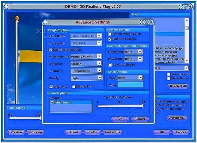 3D Realistic Flag Screensaver 2.2