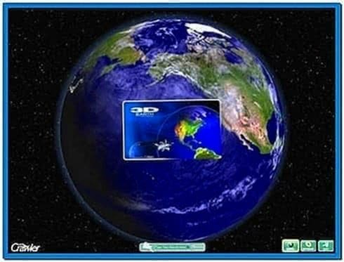 3D Rotating Earth Screensaver
