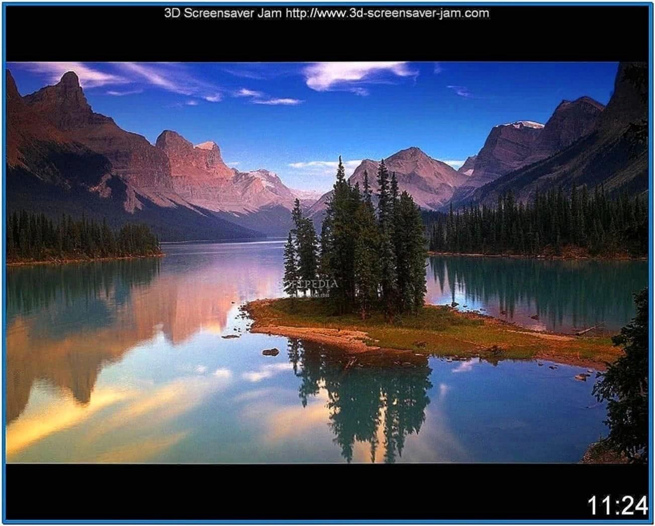 3D Screensaver for Windows 7