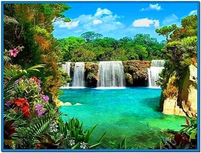 3D Screensaver Waterfall