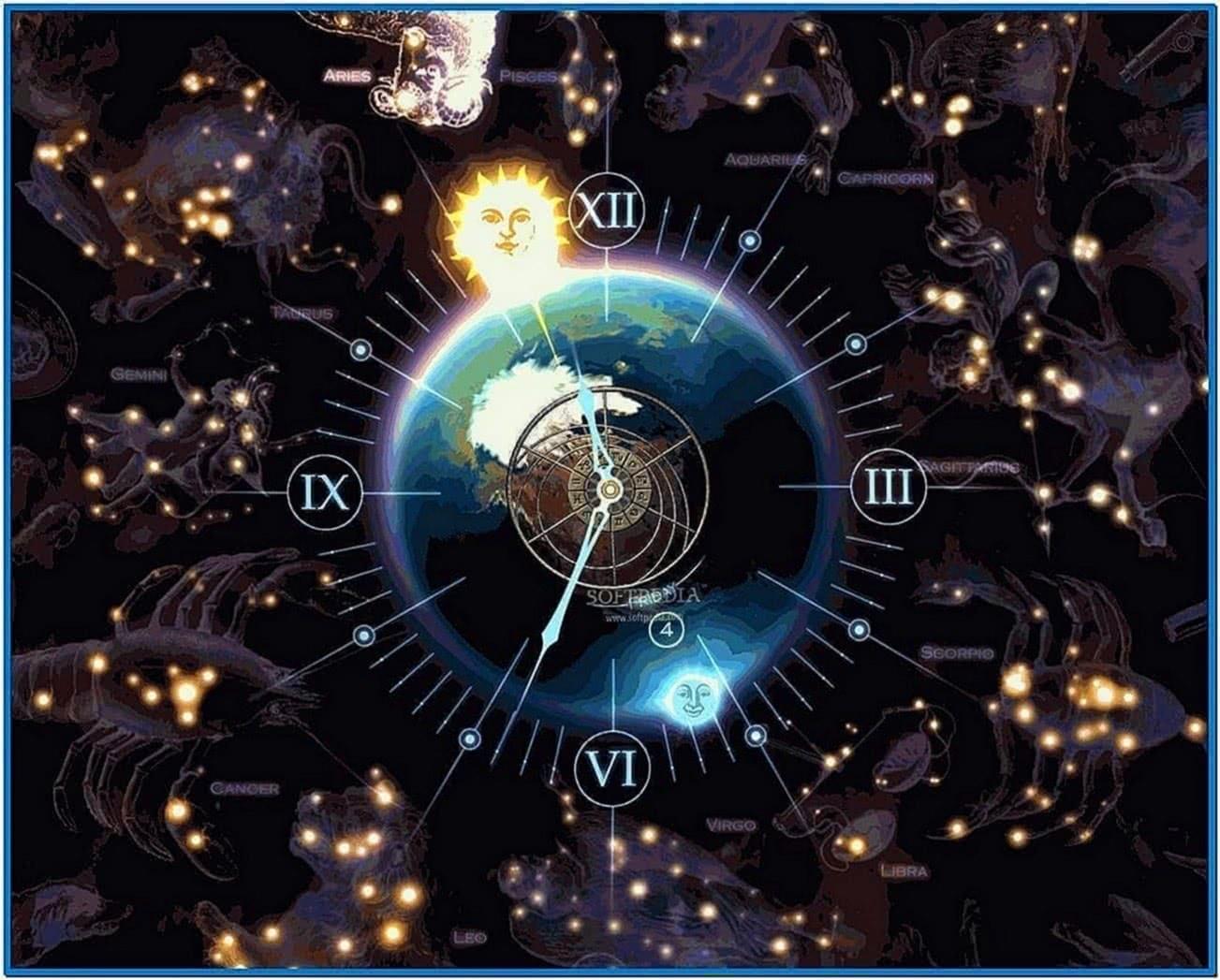3D Screensaver Zodiac Clock