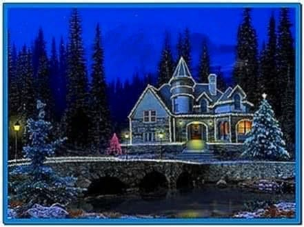 3D Screensavers Christmas Cottage