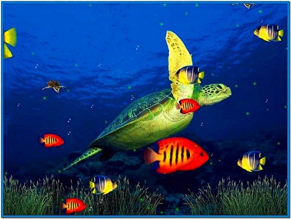 3D Screensavers Windows 7 Aquarium