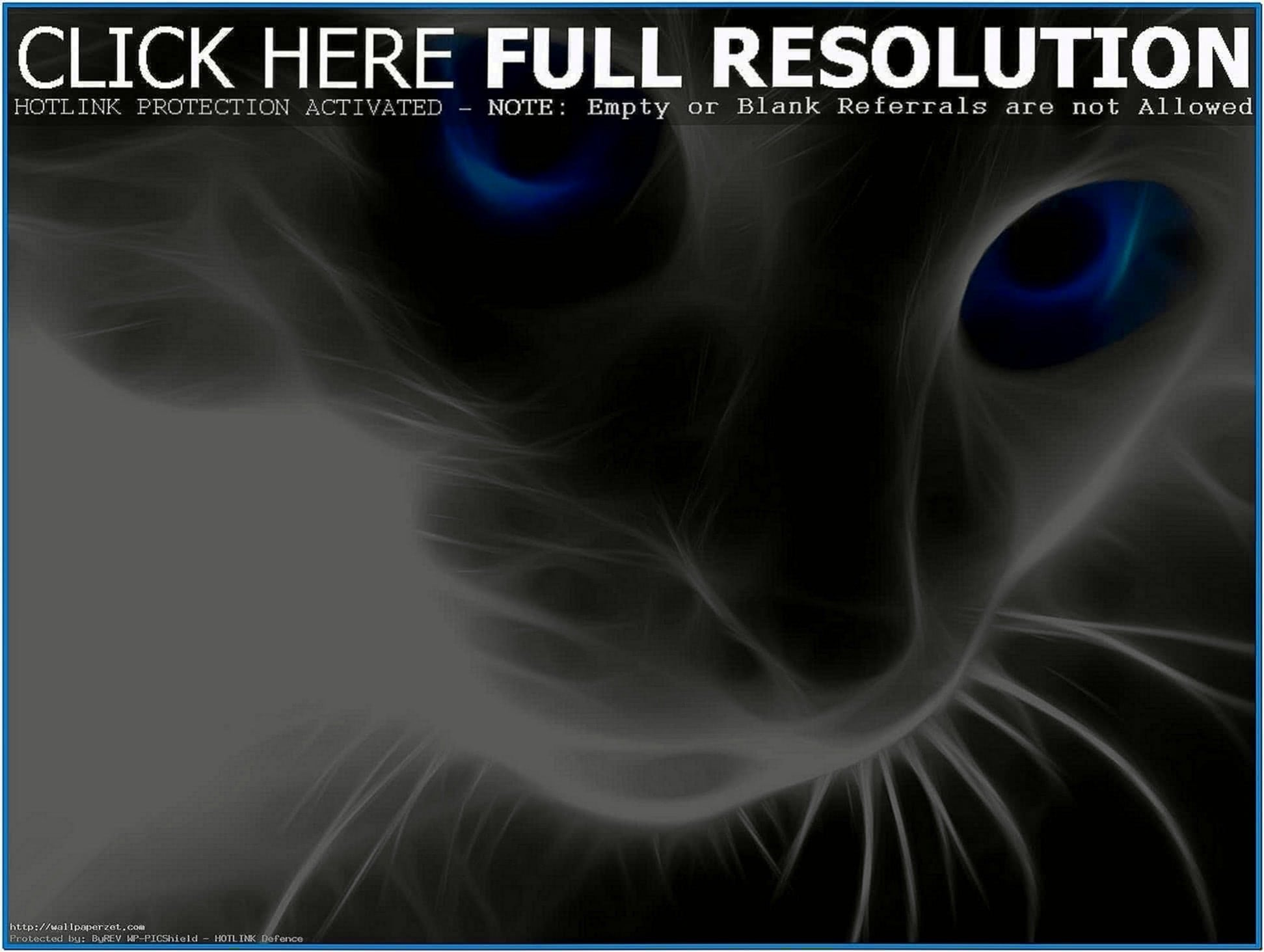 3D Screensavers With Cat