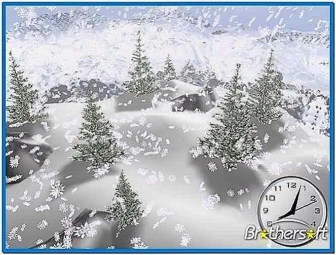 3D Snow Screensaver Windows 7