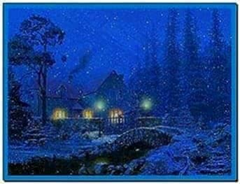3D Snowy Cottage Screensaver Full