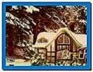 3d snowy cottage screensaver Mac