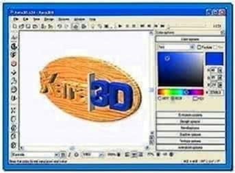 3d text screensaver creator