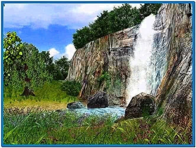 3D Waterfall Screensaver 1.0