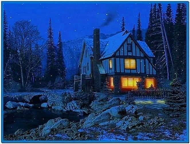 3D Winter Cottage Screensaver
