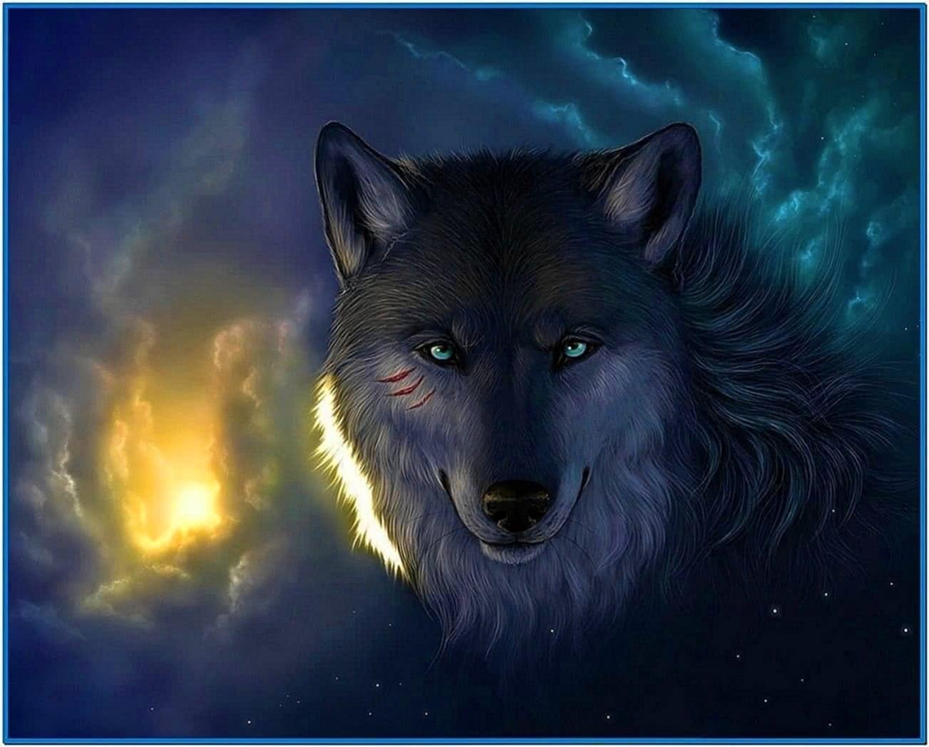 3d wolves screensaver