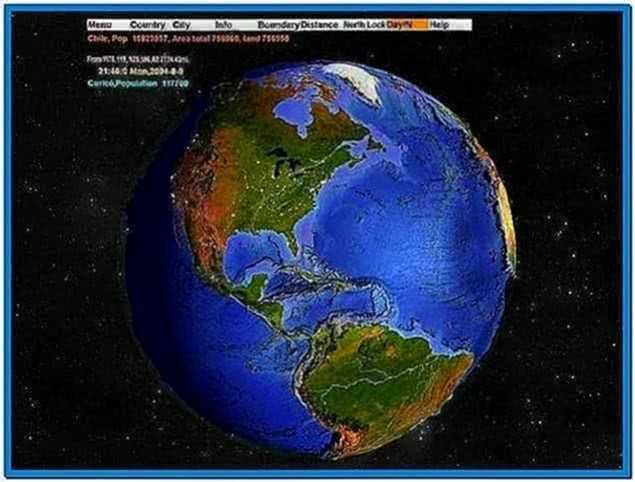 3D World Map Screensaver