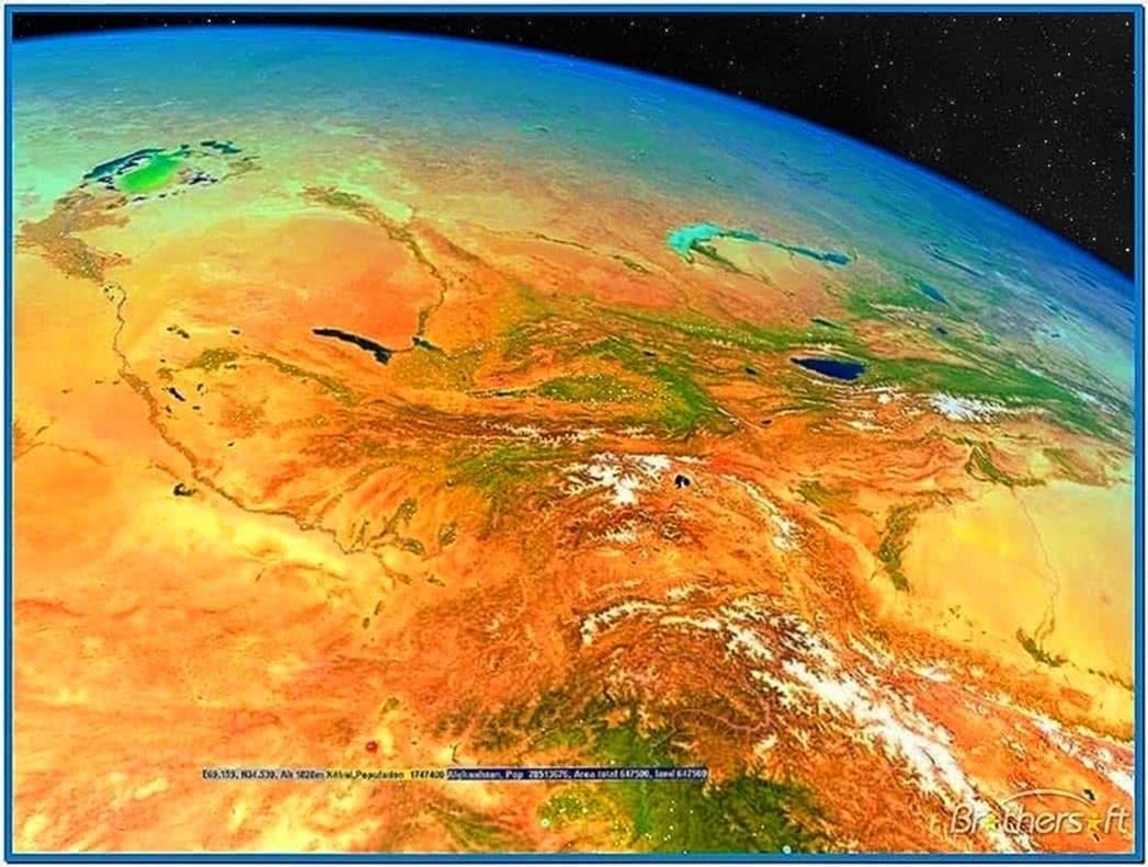 3D World Map Screensaver Software
