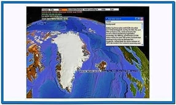 3D World Map Screensaver Software