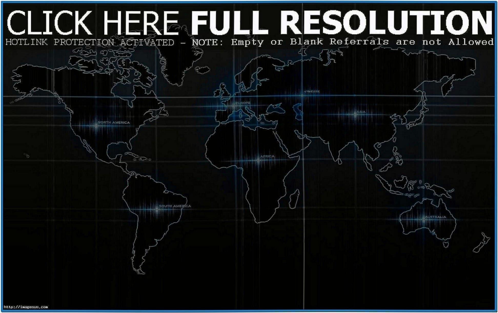 3D World Map Screensaver
