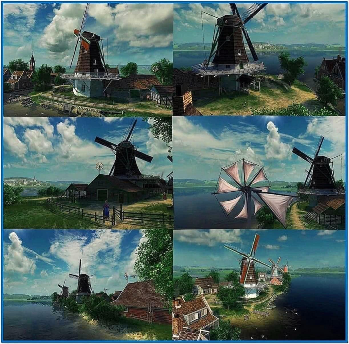 3planesoft Dutch Windmills 3D Screensaver