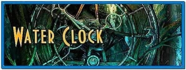 3planesoft Water Clock 3D Screensavers