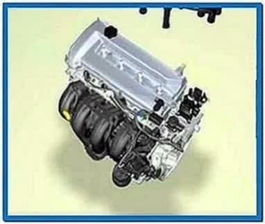 4 cylinder car engine screensaver