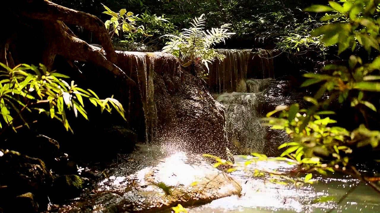 Relaxing 10 hour Waterfall Screensaver