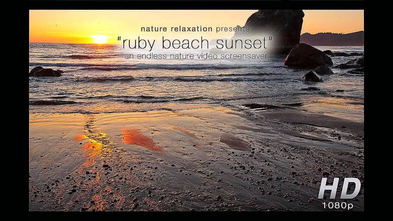 """Ruby Beach Coastal Sunset"" Unlimited Length HD Nature Video Screensaver"