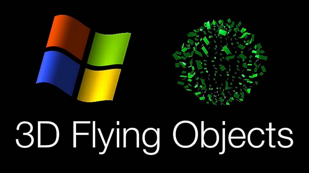Windows 3D Flying Objects Screensaver