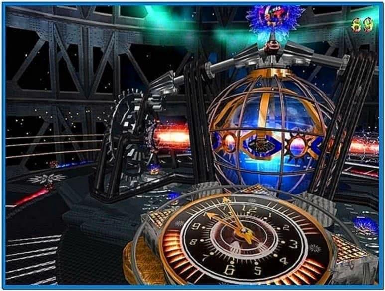 7art Alien Clock Screensaver
