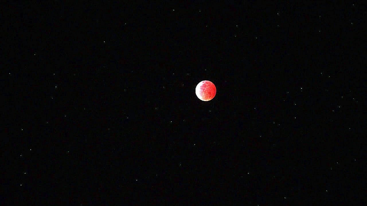 RED MOON TOTAL LUNAR ECLIPSE SCREENSAVER