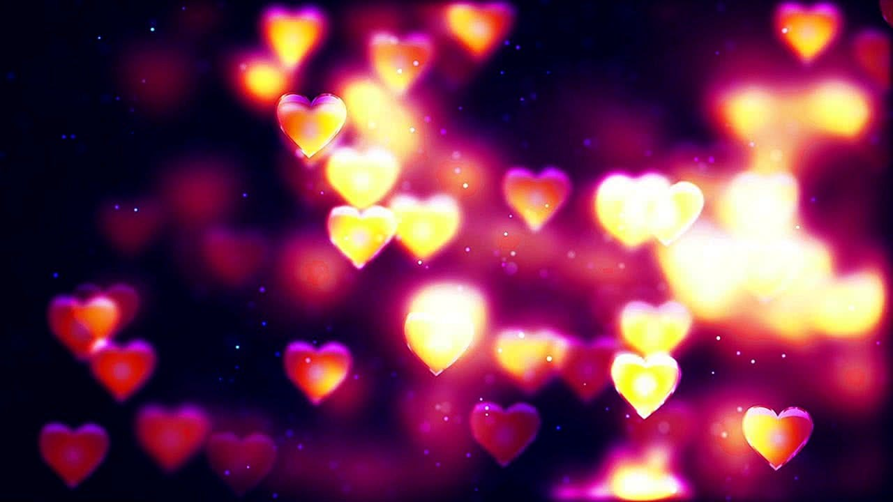 Relaxing screensaver with Valentine's day