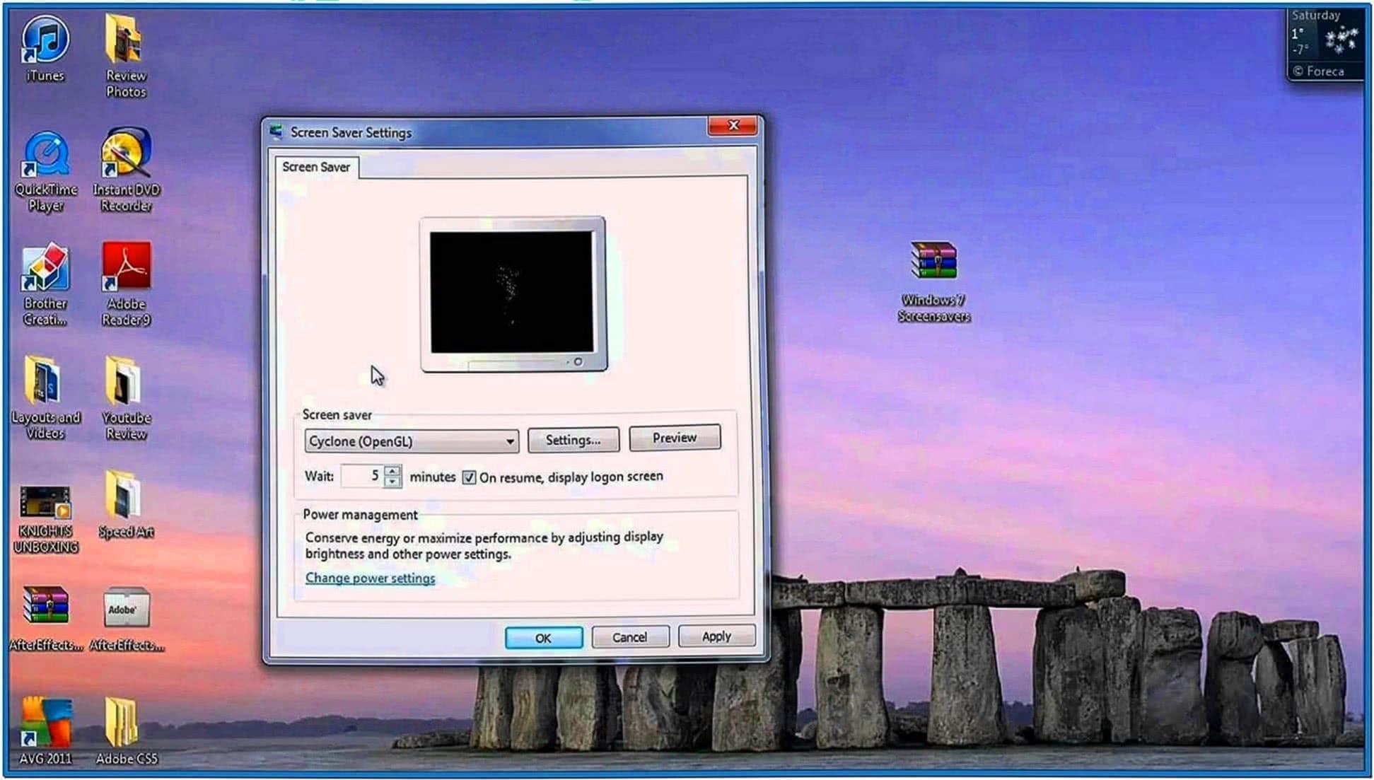 how to add new screensaver windows 7