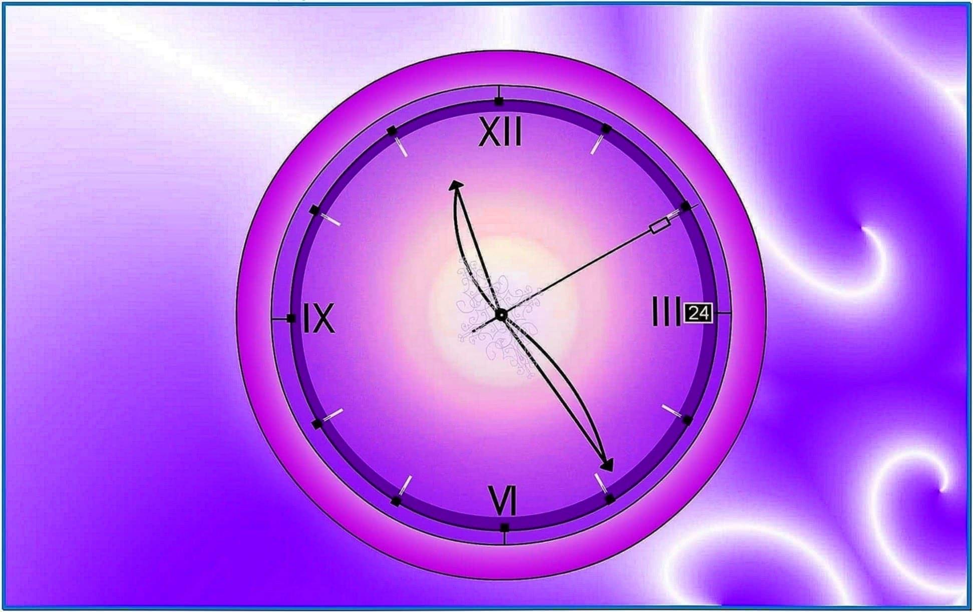 Analog Clock Screensaver for Desktop