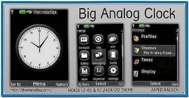 Analog Clock Screensaver for Nokia 3110c
