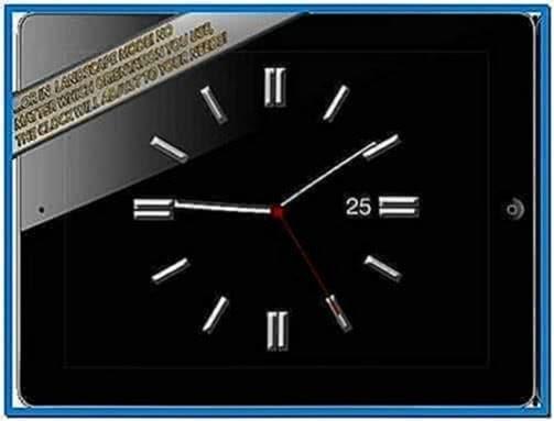 Analog Clock Screensaver iPhone