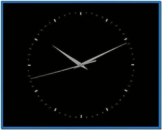 Analog clock screensaver software