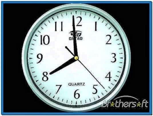 Analog clock screensaver Windows 7