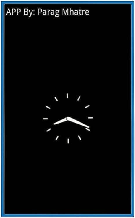 Android Phone Clock Screensaver