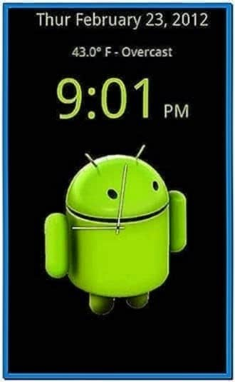 Android Tablet Clock Screensaver