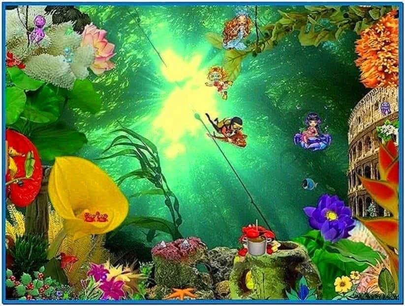 Animated aquarium screensavers