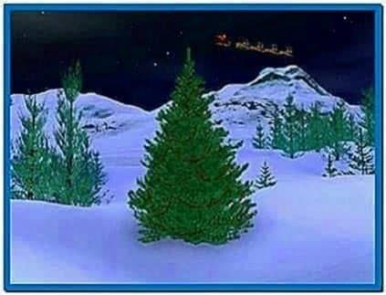 Animated christmas screensaver countdown