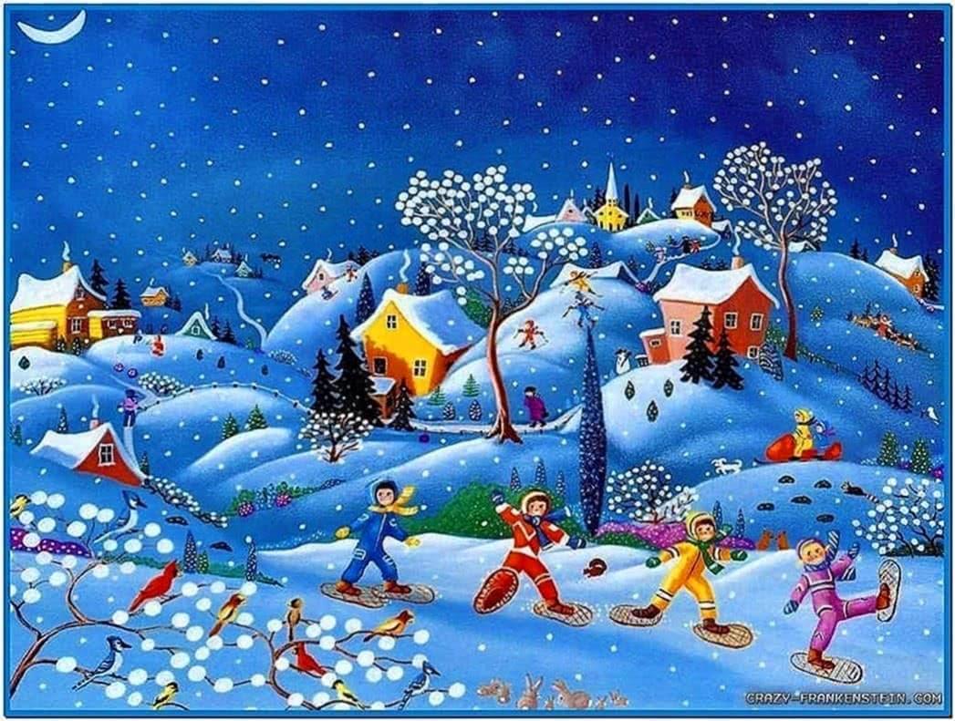 Animated christmas screensavers for kids - Download free