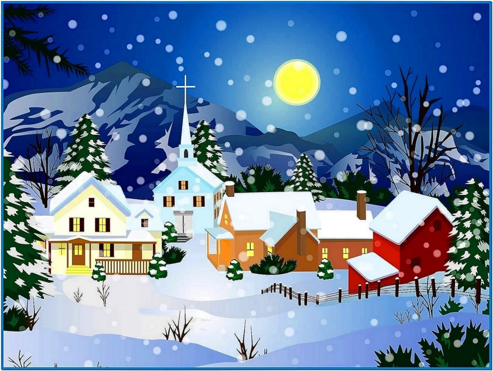 Animated Christmas Snow Screensaver