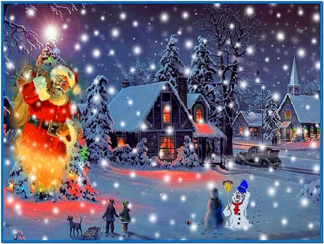 Animated Christmas Snow Screensaver