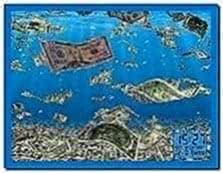 Animated falling money screensaver - Download free