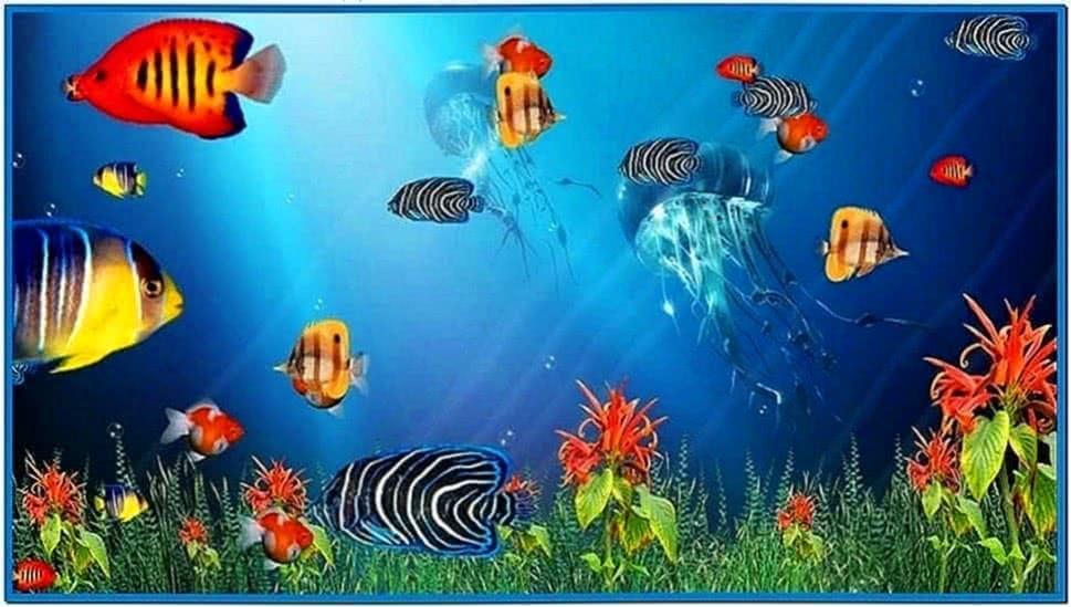 Animated Fish Aquarium Screensaver