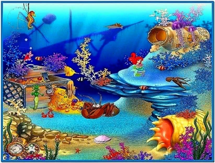 Animated Fish Tank Screensaver